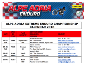 Enduro Regulations 2018 – Alpe Adria Motorcycle Union